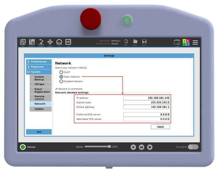 Beacon - Static IP Setup